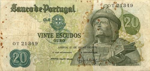 20 эскудо 1971 года (Португалия)