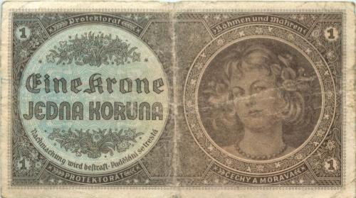 1 крона (Богемия и Моравия)