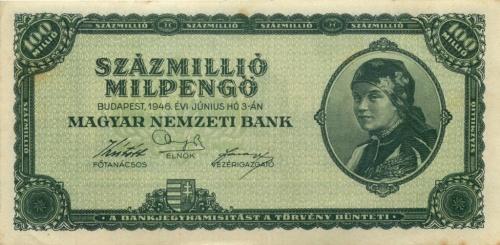 100 миллионов милпенгё 1946 года (Венгрия)