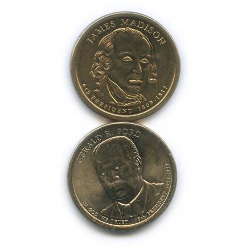 Набор монет 1 доллар - Президенты США 2007, 2016 Р, D (США)