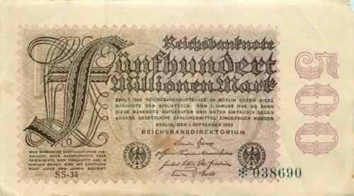 500 миллионов марок 1923 года (Германия)