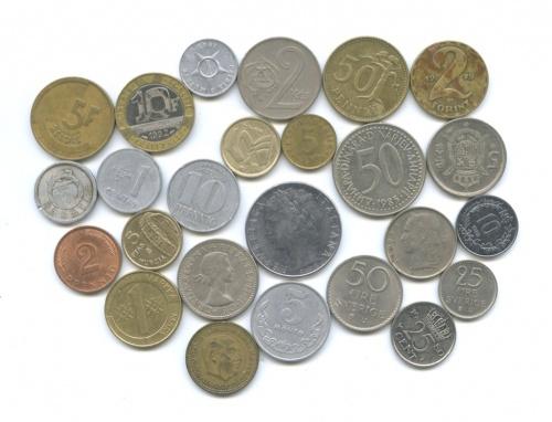 Набор монет (разные страны, 25 шт.)