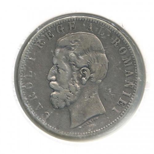 5 лей (в холдере) 1883 года (Румыния)