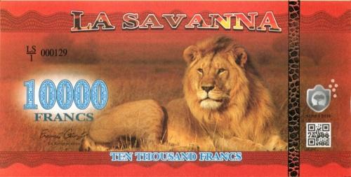10000 франков (Саванна) 2016 года