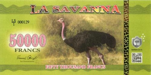 50000 франков (Саванна) 2016 года