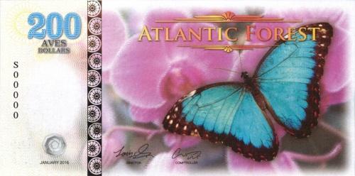 200 долларов (Атлантический лес) 2016 года