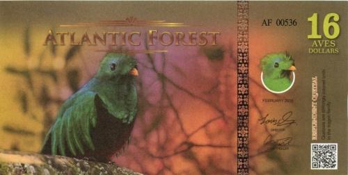 16 долларов (Атлантический лес) 2016 года