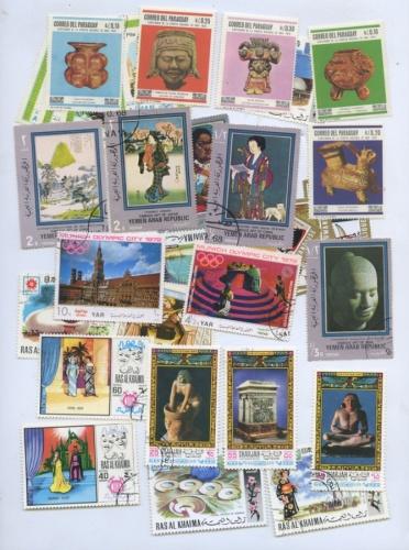 Набор почтовых марок (разные страны, 34 шт.)