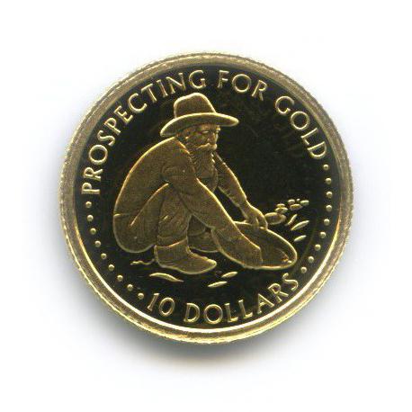 10 долларов - Добыча золота, Соломоновы острова 2005 года