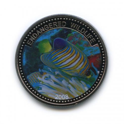 1 доллар - Под угрозой исчезновения, Палау (цветная эмаль) 2008 года