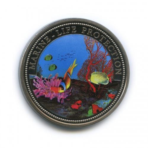 1 доллар - Защита морской жизни, Палау (цветная эмаль) 1994 года