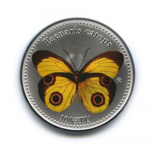 10 вату - Насекомые - Тенарис катопс, Республика Вануату (серебрение, цветная эмаль) 2006 года