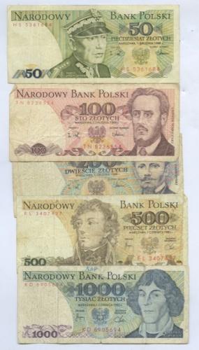 Набор банкнот 1982, 1988 (Польша)