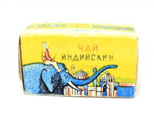 Чай черный байховый, мелкий, индийский (1 сорт, 125 гр., 1980-е года) (СССР)