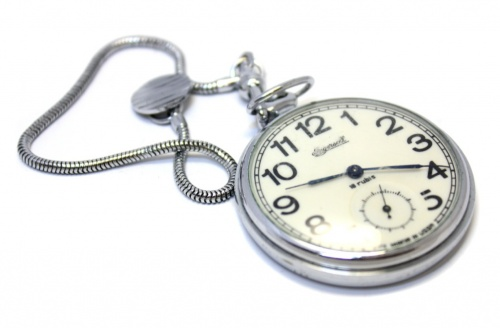 Часы карманные «INGERSOLL» (18 камней), рабочие, 4,5 см (СССР)