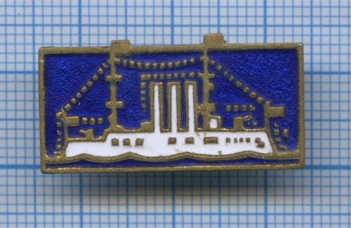 Значок «Корабль» (тяжелый) (СССР)