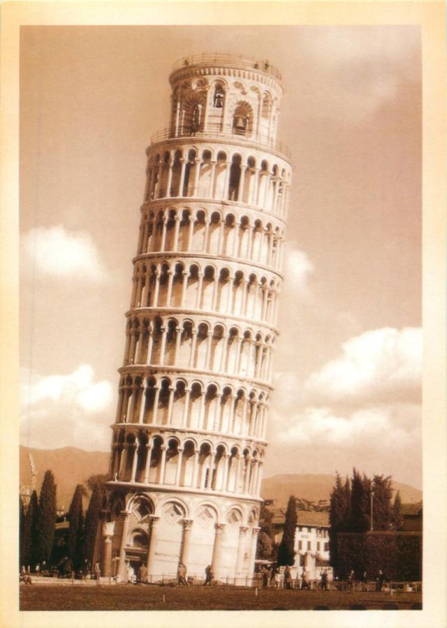 Карточка почтовая «Пизанская башня» КОПИЯ