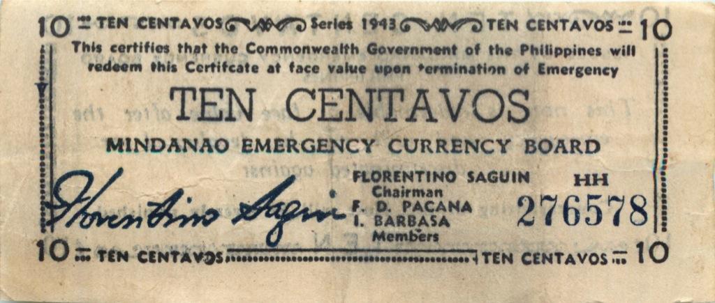 10 сентаво 1943 года (Филиппины)