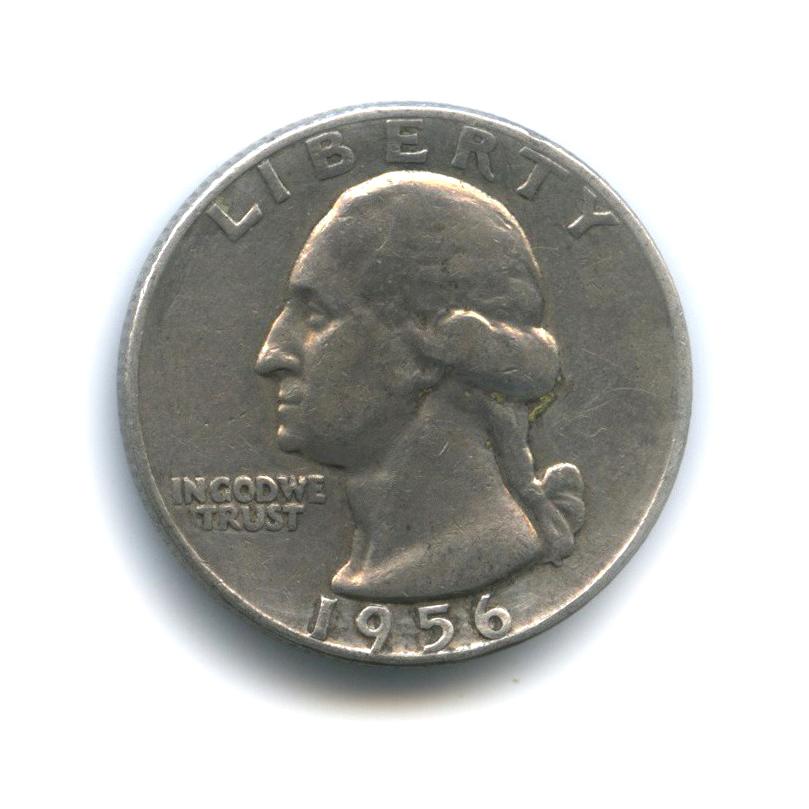 25 центов (квотер) 1956 года D (США)