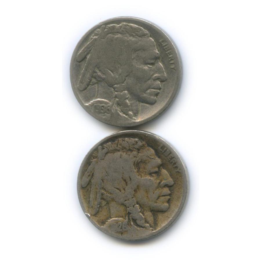 Набор монет 5 центов 1928, 1936 (США)