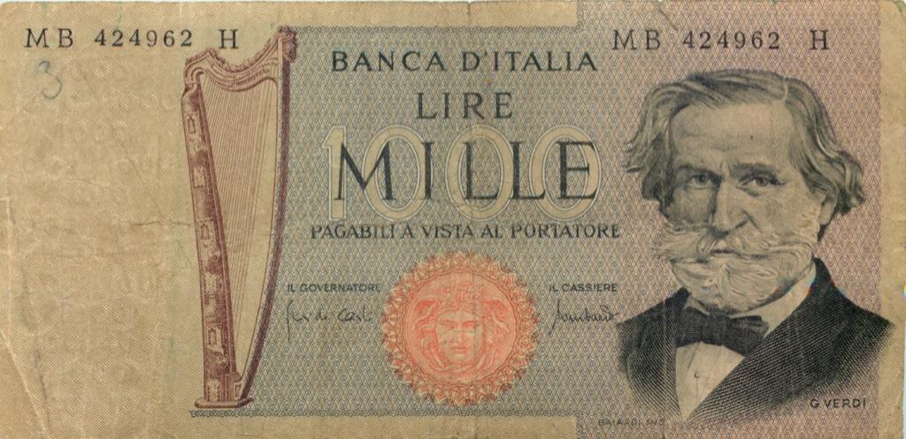 1000 лир 1971 года (Италия)