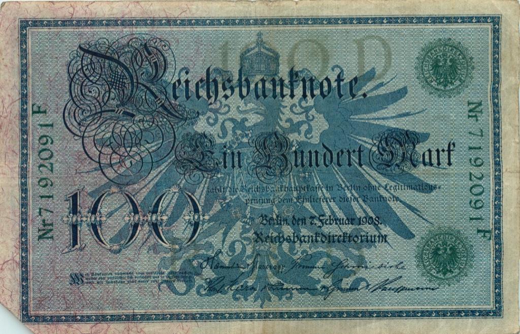 1000 марок 1908 года (Германия)