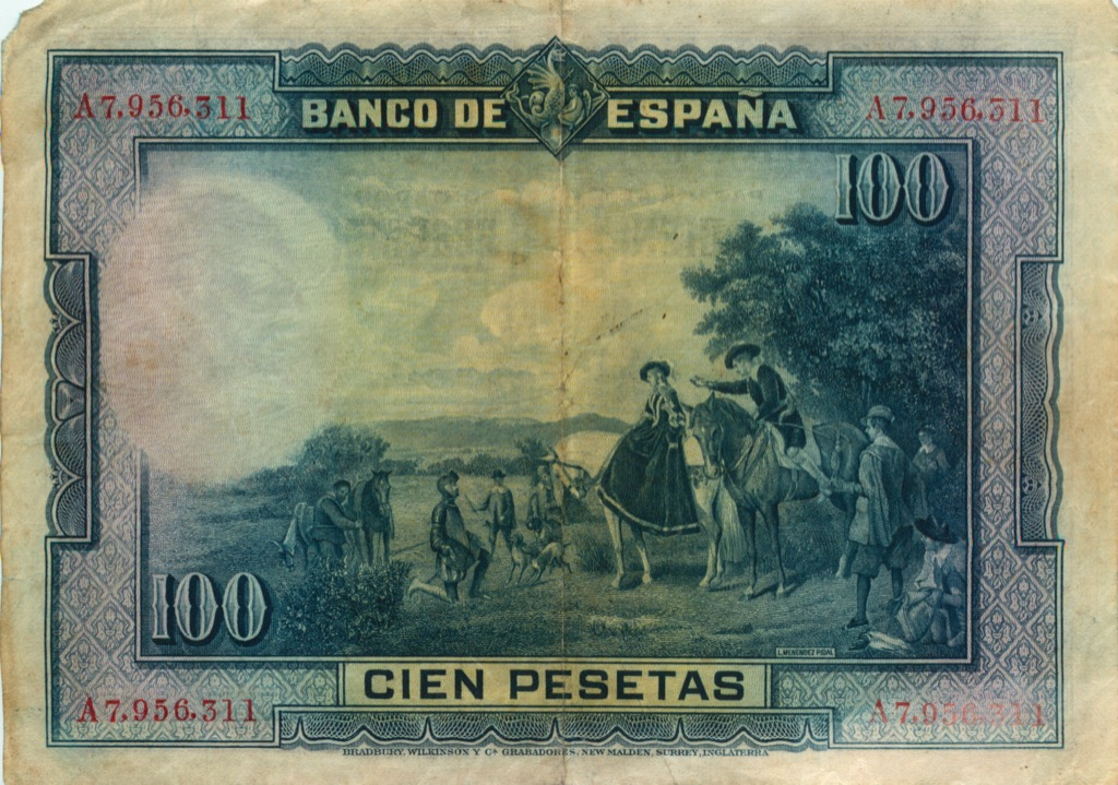100 песет 1928 года (Испания)