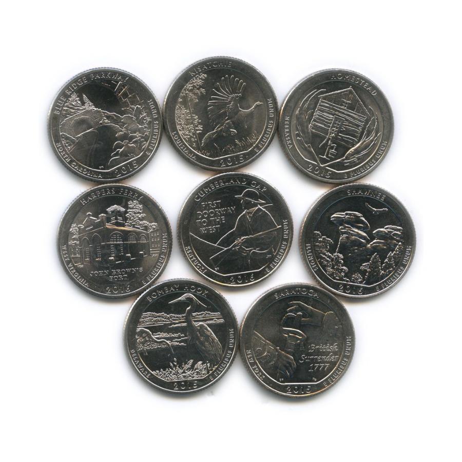 Набор монет 25 центов (квотер) - Национальные парки 2015, 2016 (США)