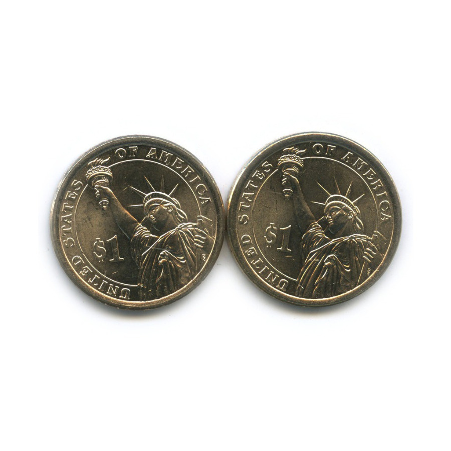 Набор монет 1 доллар — 40-й Президент США - Рональд Уилсон Рейган (1981-1989) 2014 года P, D (США)