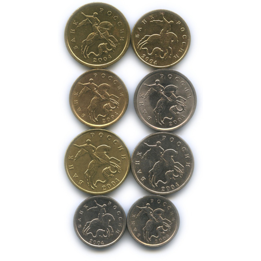 Набор монет России 2004 года ММД, СПМД (Россия)