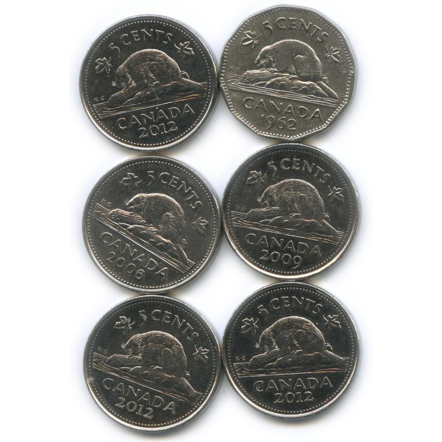 Набор монет 5 центов (Канада)