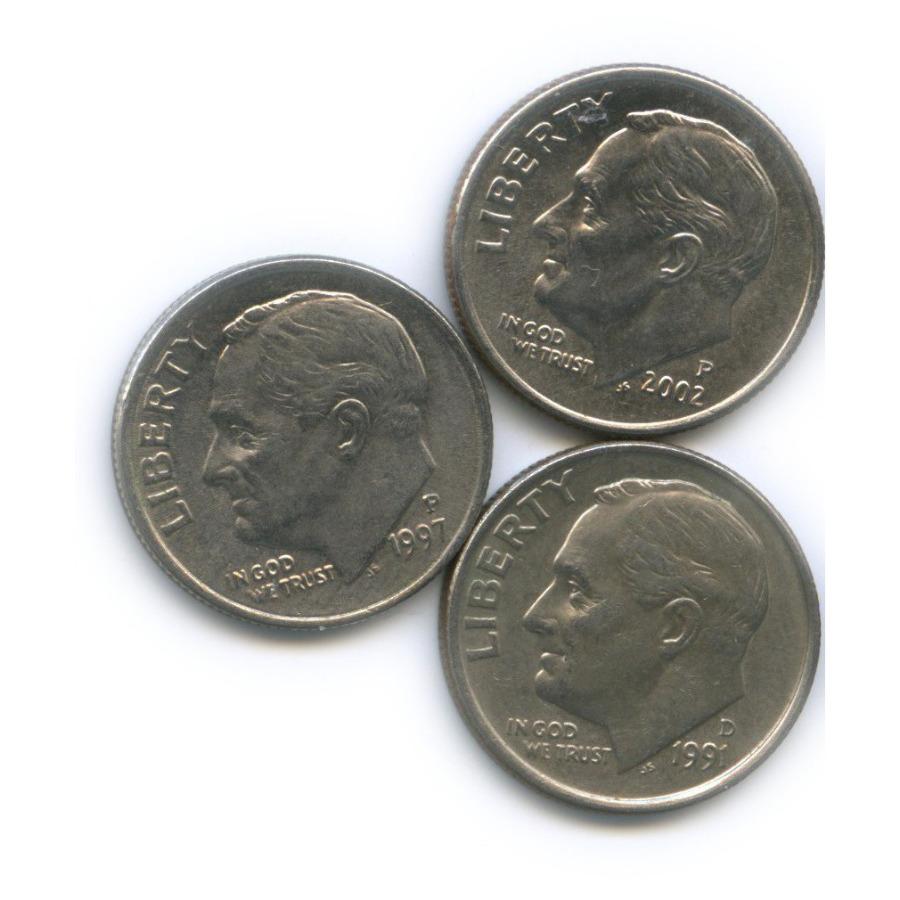 Набор монет 10 центов (дайм) (США)