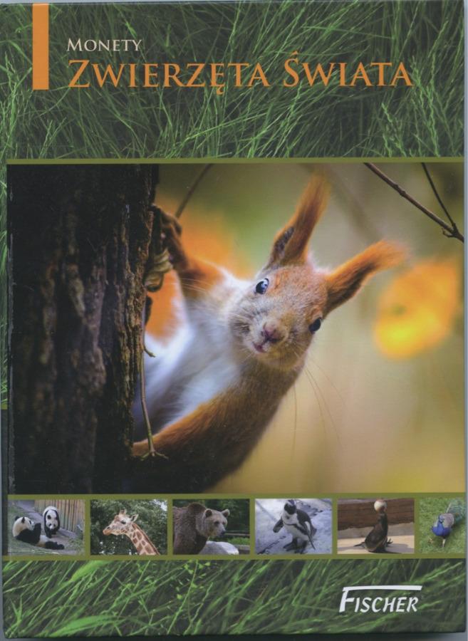 Альбом для монет «Животные мира» (20 ячеек) (Польша)