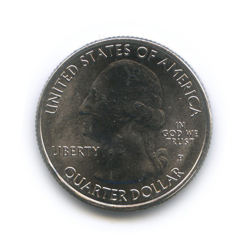 25 центов (квотер) - Национальный исторический парк Камберленд-Гэп 2016 года Р (США)