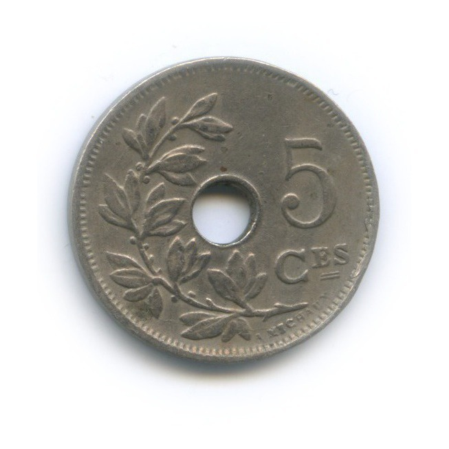 5 сантимов 1928 года (Бельгия)
