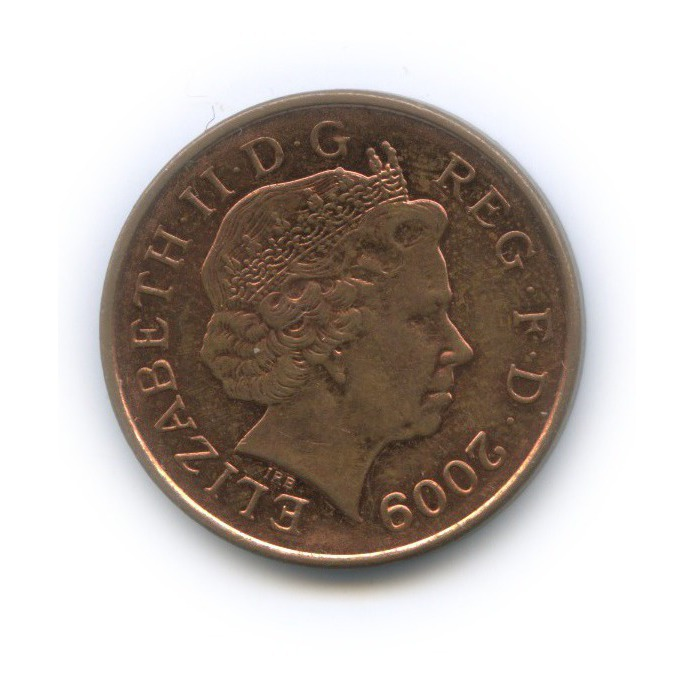 1 пенни - Фрагмент герба британской королевской семьи 2009 года (Великобритания)