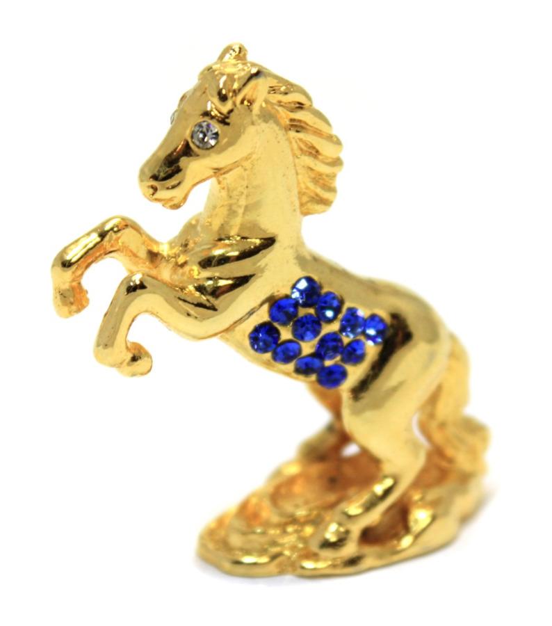 Фигурка «Лошадь» (стразы, латунь, 4,5 см)