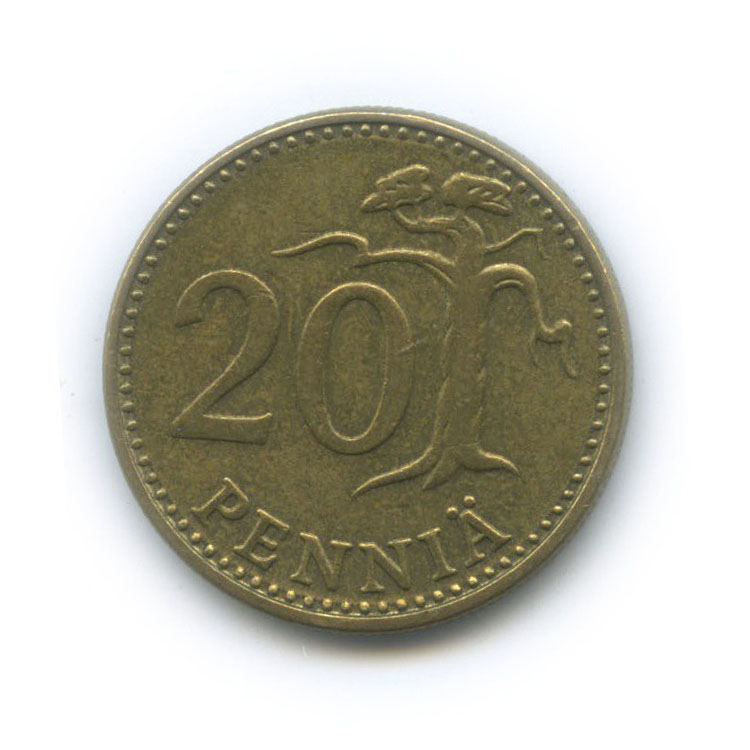 20 пенни 1976 года (Финляндия)