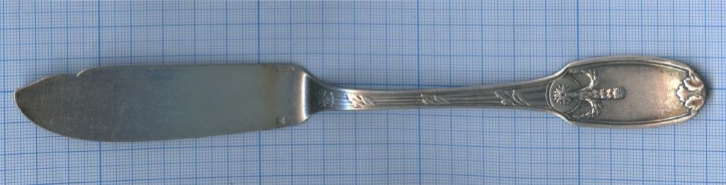 Нож рыбный «CHRISTOFLE» (серебрение, Европа, 21,5 см, клеймо)