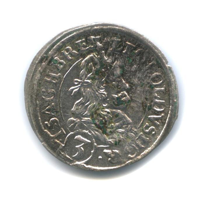 3 крейцера - Леопольд I 1667 года (Австрия)