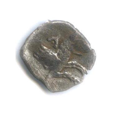Обол - Лукания Ларанда, 331 г. до н. э., волк/Баал