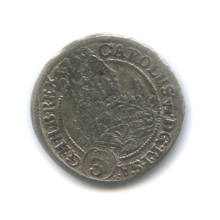 3 крейцера - Карл VI 1712 года (Австрия)