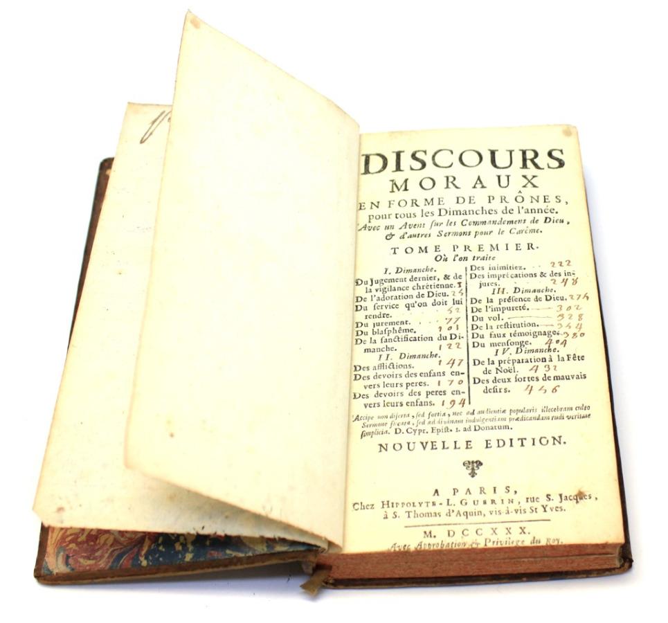 Книга «Проповеди», Париж 1780 года (Франция)