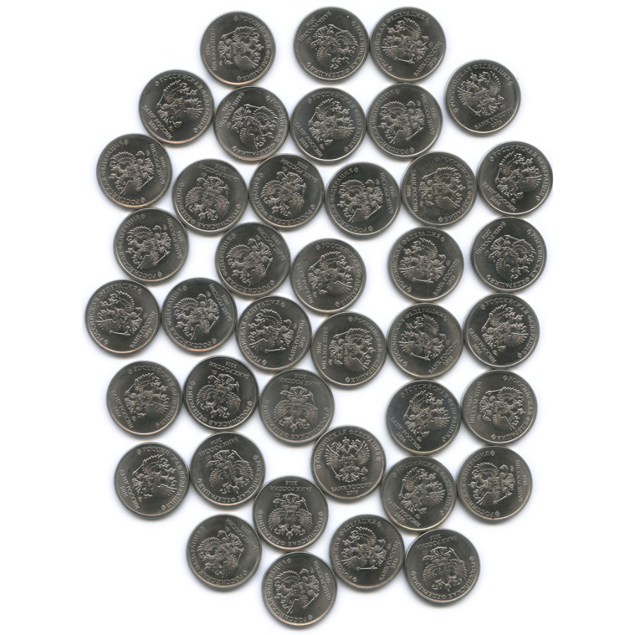 Набор монет 1 рубль (40 шт.) 2016 года ММД (Россия)