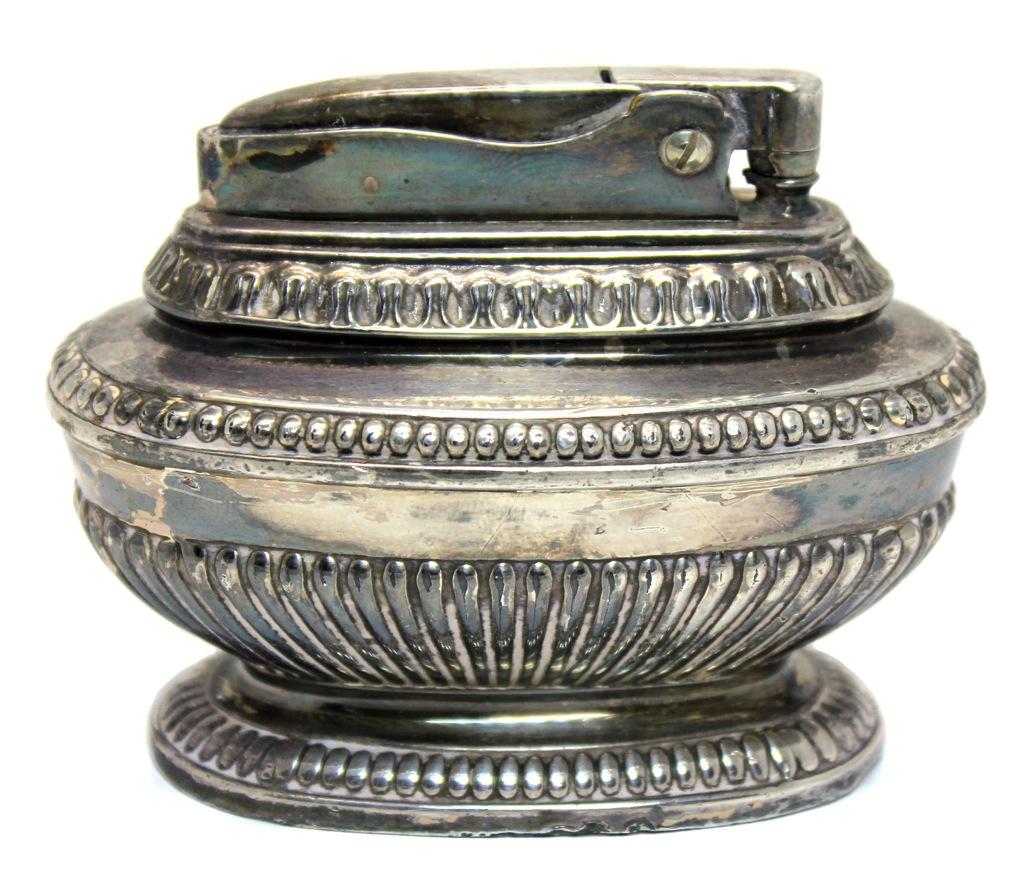 Зажигалка настольная «Ronson» (серебрение, 6×8 см) (Великобритания)
