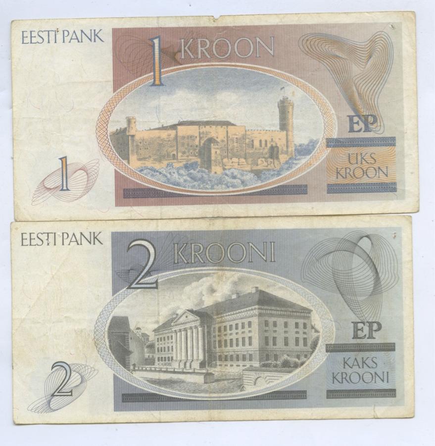 Набор банкнот (Эстония)