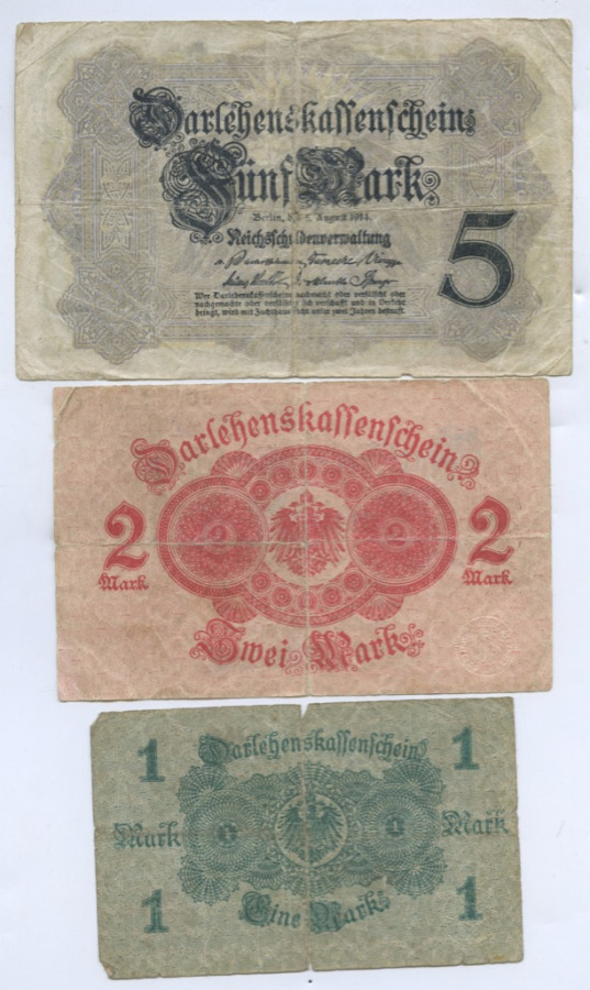 Набор банкнот 1914 года (Германия)