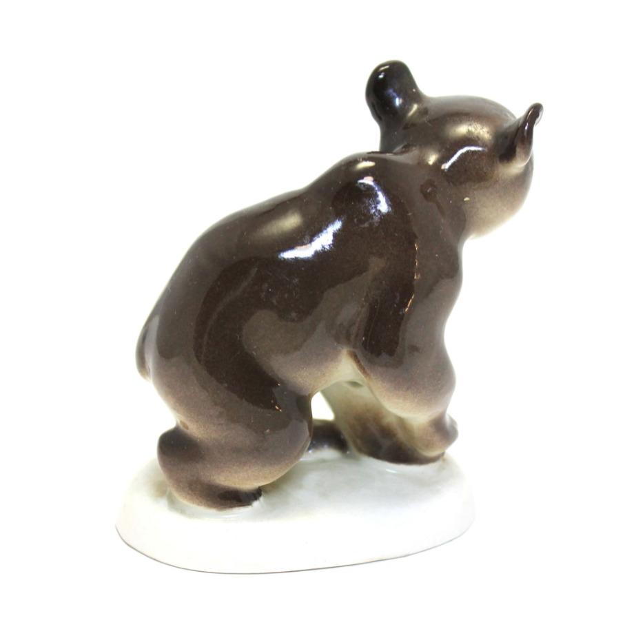 Статуэтка «Мишка» (фарфор, 10,5 см) (СССР)