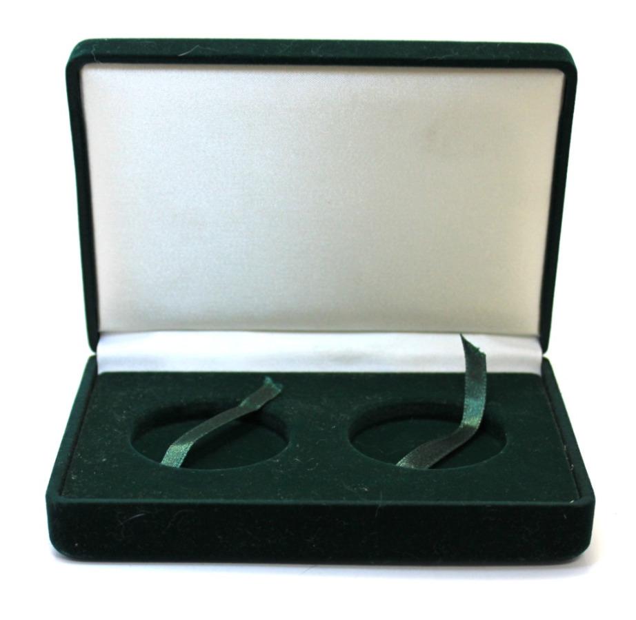 Футляр для 2-х монет (бархат, диаметр 4,5 см)
