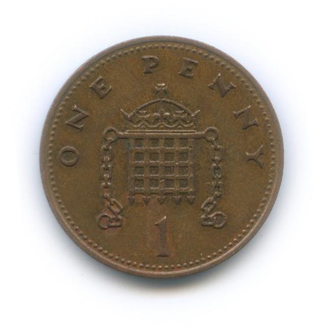 1 пенни 1988 года (Великобритания)